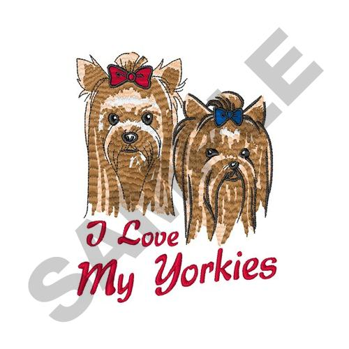 I love my yorkies embroidery designs machine