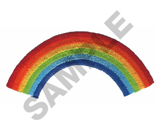 Rainbow embroidery designs machine at