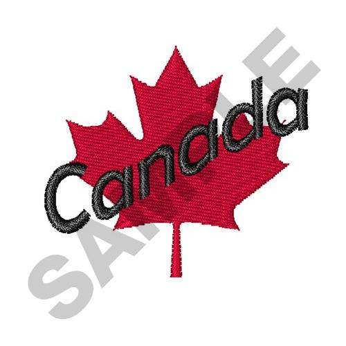 Canada maple leaf embroidery designs machine