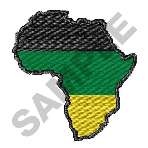 AFRICA MAP FLAG Embroidery Designs Machine Embroidery Designs at