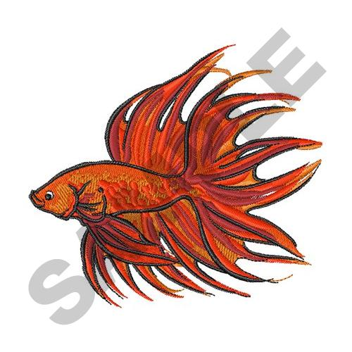 Crowntail Betta Fish Embroidery Designs Machine Embroidery Designs