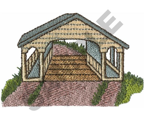 Covered Bridge Machine Embroidery Designs