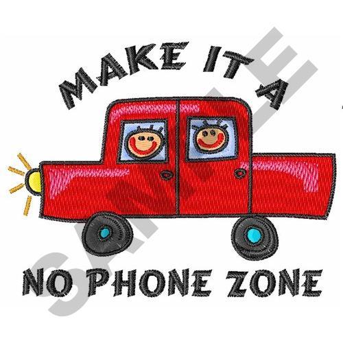 No phone zone embroidery designs free machine