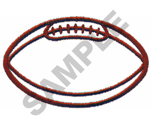 Football Outline Large Embroidery Designs Machine Embroidery