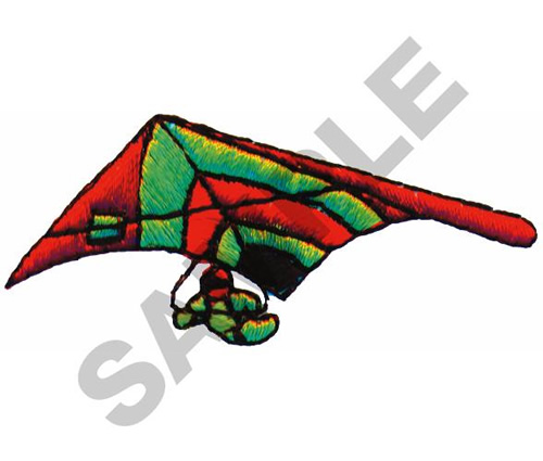 HANG GLIDER Embroidery Design