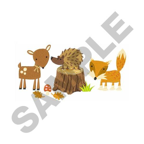 WOODLAND ANIMALS Embroidery Designs Machine Embroidery