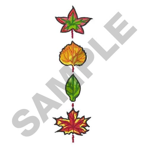 Fall leaves border embroidery designs machine