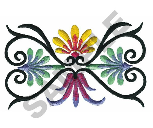 Mexican toleart embroidery designs machine