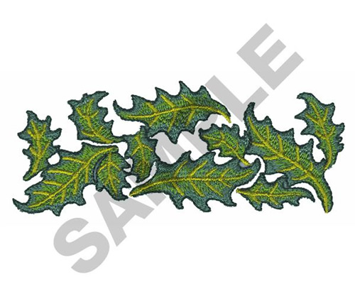 Holly leaves embroidery designs machine