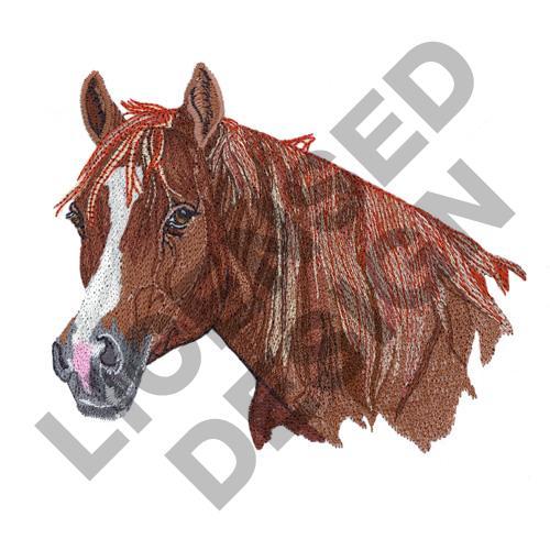Quarter horse embroidery designs machine
