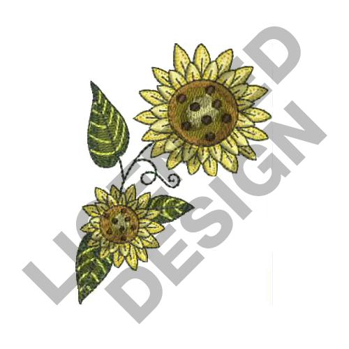 SUNFLOWER Embroidery Designs Machine At