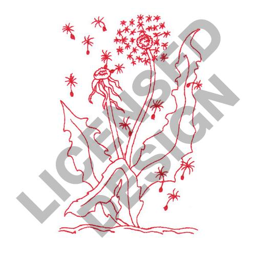 Dandelion Redwork Embroidery Designs Machine Embroidery Designs At