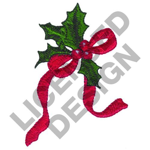 HOLLY RIBBON Embroidery Designs Machine Embroidery