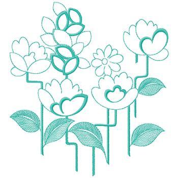 Flower garden embroidery designs machine embroidery for Garden embroidery designs free