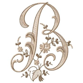 Monogram B Embroidery Designs Machine Embroidery Designs