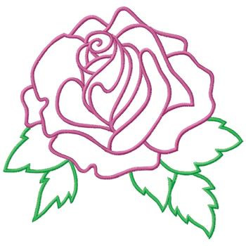 Rose Outline Embroidery Designs Machine Embroidery Designs At