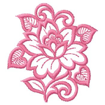 Pink Flower Outline Embroidery Designs Machine Embroidery Designs