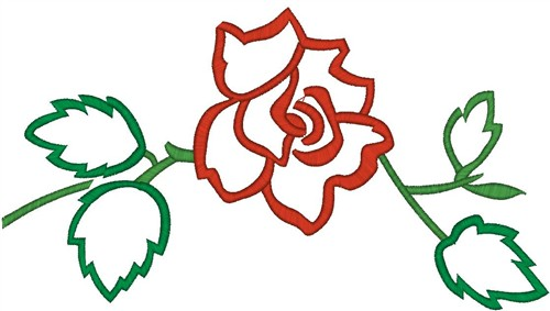 Rose outline embroidery designs machine