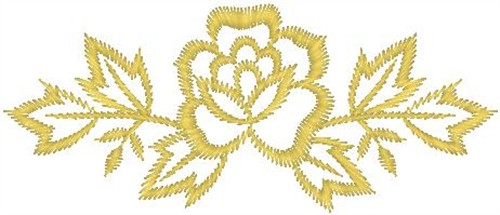 Yellow rose outline embroidery designs machine