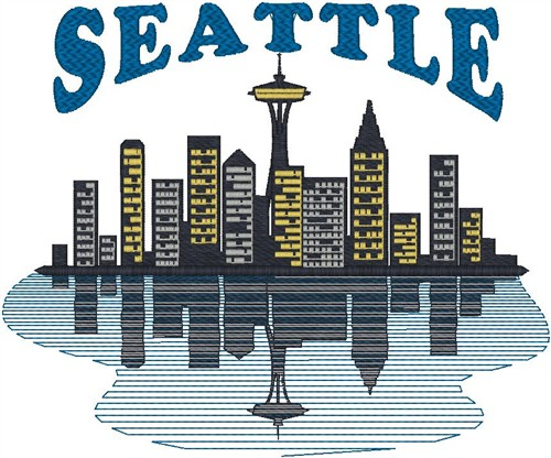 Seattle Skyline Embroidery Designs Machine Embroidery Designs At