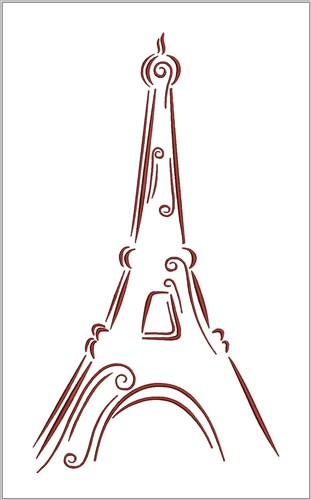 Eiffel Tower Embroidery Designs Machine Embroidery Designs At