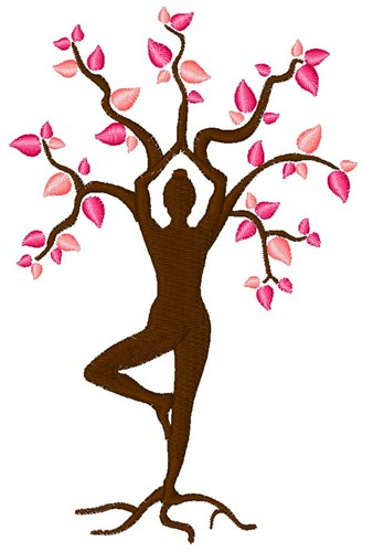 Yoga tree embroidery designs machine