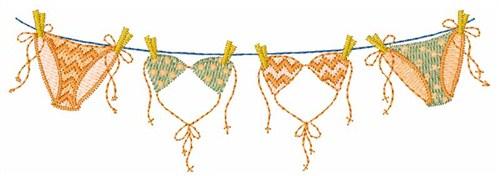 Hopscotch Embroidery Design: Bikini Clothes Line 1.36 inches H x 4.00 ...
