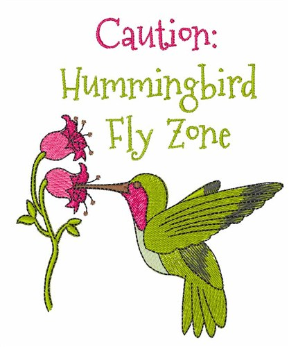 Hummingbird fly zone embroidery designs machine