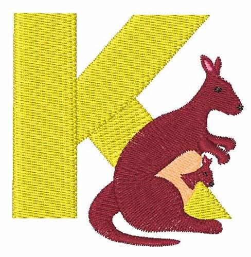 Animal alphabet k embroidery designs machine