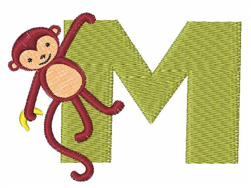 Animal alphabet m embroidery designs machine
