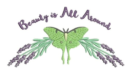 Luna Moth On Lavender Embroidery Designs Machine Embroidery Designs