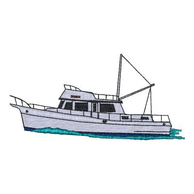 Trawler Embroidery Design