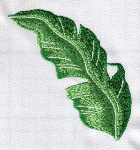 Tropical leaf embroidery designs machine