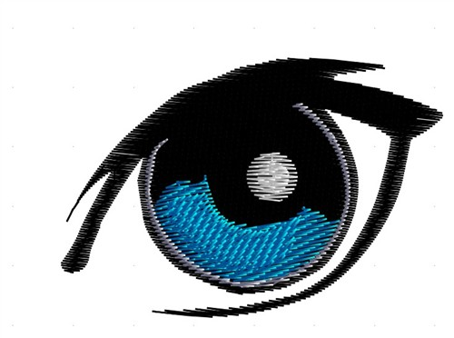 Eye graphics embroidery designs machine