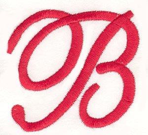 elegant letter b embroidery design