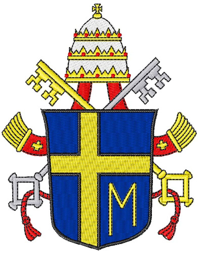 Catholic pope crest embroidery designs machine embroidery for Landmark design