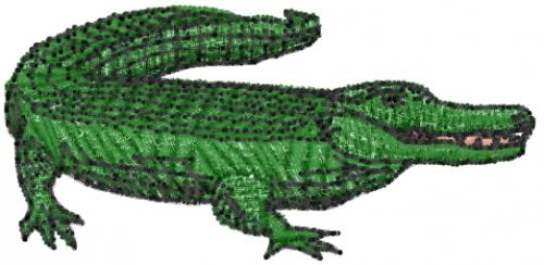 Crocodile Embroidery Designs, Machine Embroidery Designs ...  |Alligator Design Embroidery Floss