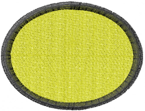 Oval patch embroidery designs machine