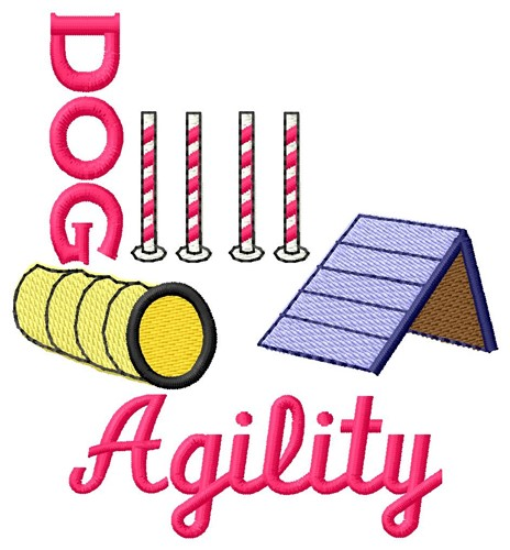 Dog Agility Embroidery Designs