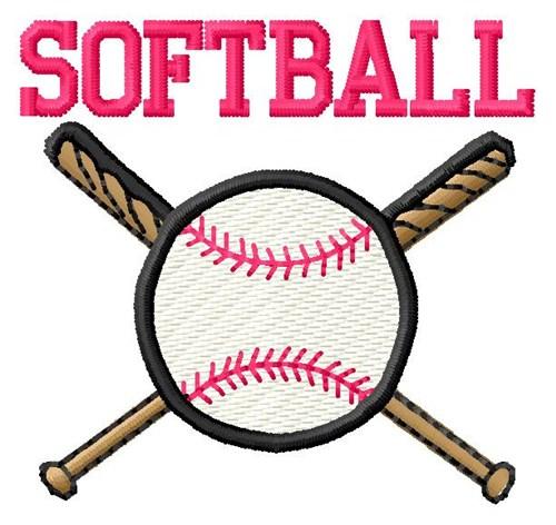 Machine Embroidery Design Softball