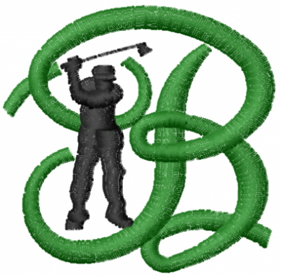 Golf Letter B Embroidery Designs Machine Embroidery Designs At EmbroideryDesigns.com