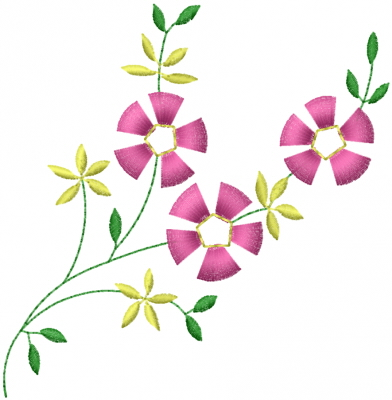 Little Flowers Embroidery Designs Machine Embroidery Designs At