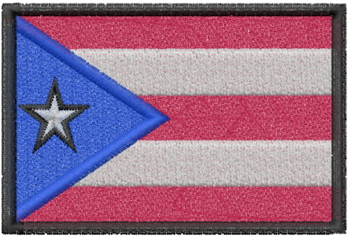 Puerto Rico Flag Embroidery Designs Machine At