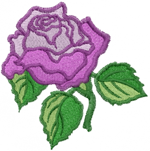 Violet rose embroidery designs machine