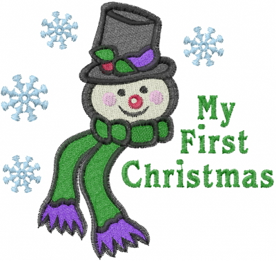 My First Christmas Embroidery Designs Machine Embroidery Designs At