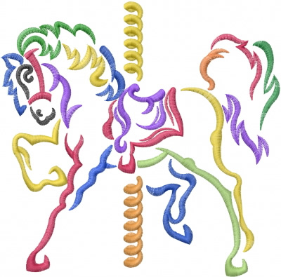 Carousel Horse Embroidery Designs Machine Embroidery Designs At