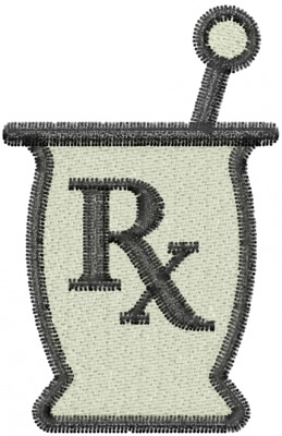 Machine Embroidery Design Pharmacist