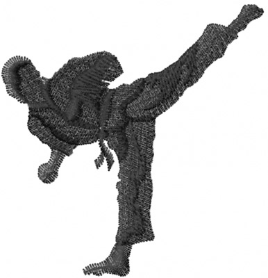 Machine Embroidery Design Karate