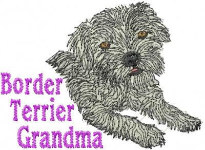 Border Terrier Grandma Embroidery Designs Machine