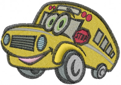 Funny School Bus Embroidery Designs Machine Embroidery